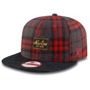 NEW ERA 9FIFTY DENIM PLAID SNAPBACK CAP