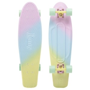 Penny Fades Nickel Complete Skateboard Purple Blue Yellow 27