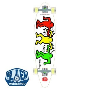 Alien Workshop Keith Haring Linkup Longboard