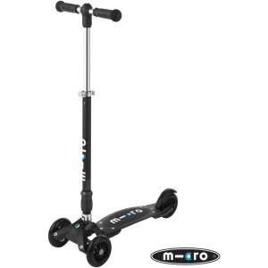 Micro Compact T-Bar Kickboard Scooter Black
