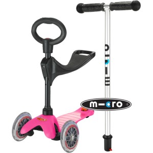 Mini Micro 3-in-1 Ride On Scooter Pink