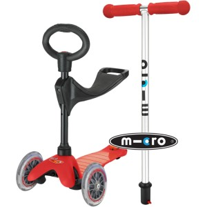 Mini Micro 3-in-1 Ride On Scooter Red