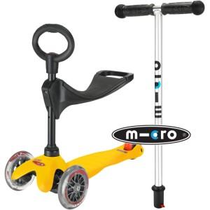 Mini Micro 3-in-1 Ride On Scooter Yellow