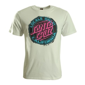 SANTA CRUZ T-SHIRT LOCALS ONLY WHITE