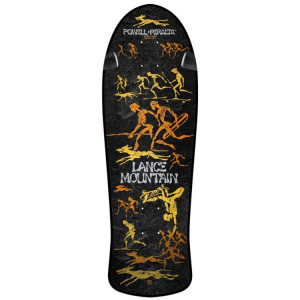 Powell Peralta Skateboard Deck-Bones Mountain Reissue Black