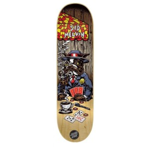 Santa Cruz Poker Dog Skateboard Deck - Melvin